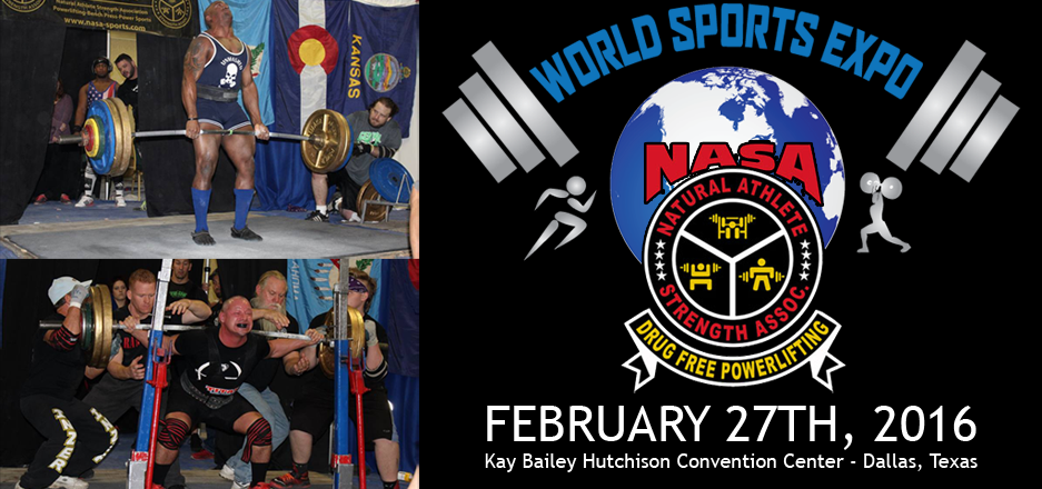 NASA Powerlifting at World Sports Expo Dallas!