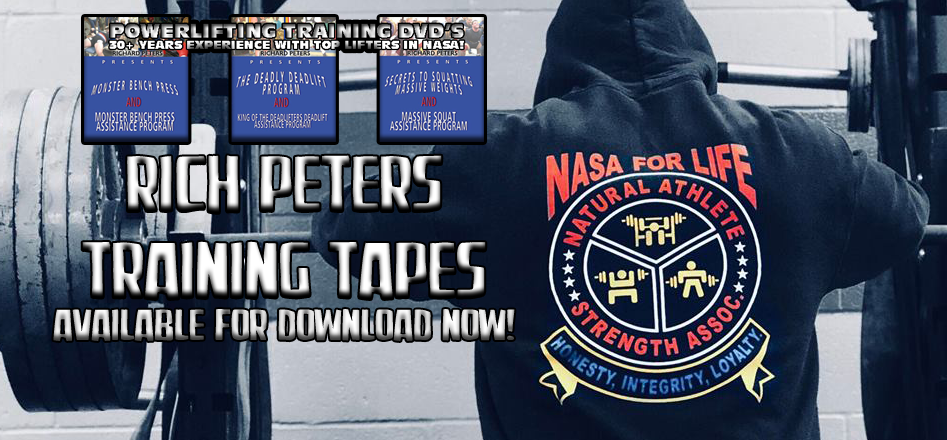 Rich Peters' Powerlifting Training Tapes now available online
